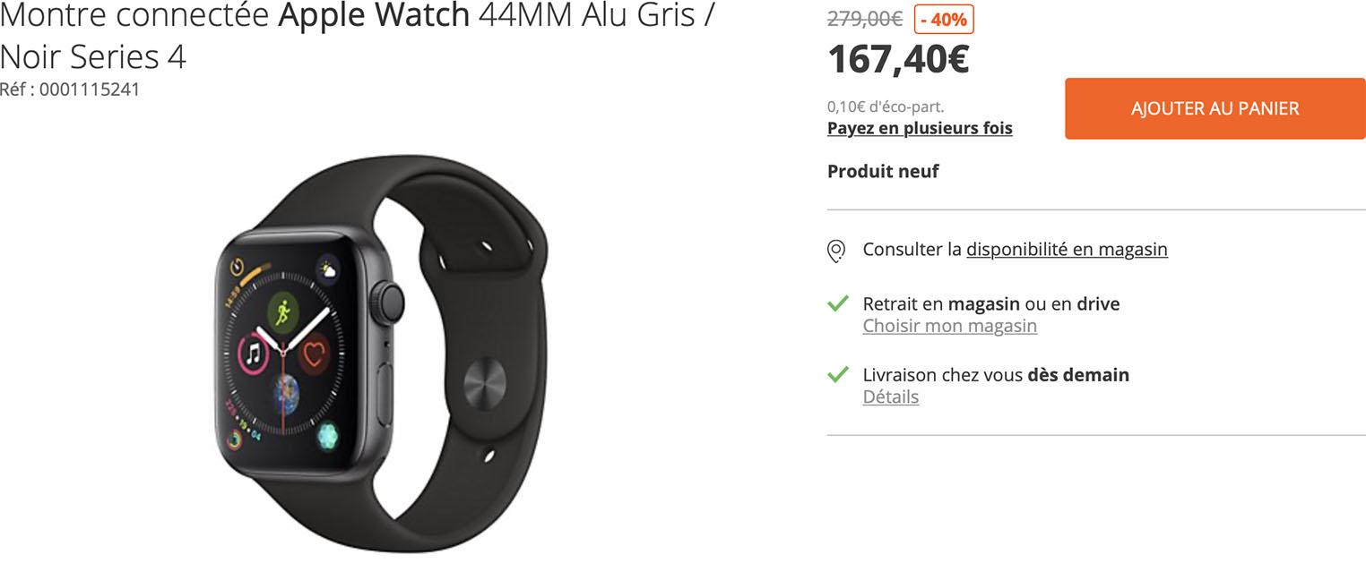 Apple Watch Series4 Soldes Boulanger