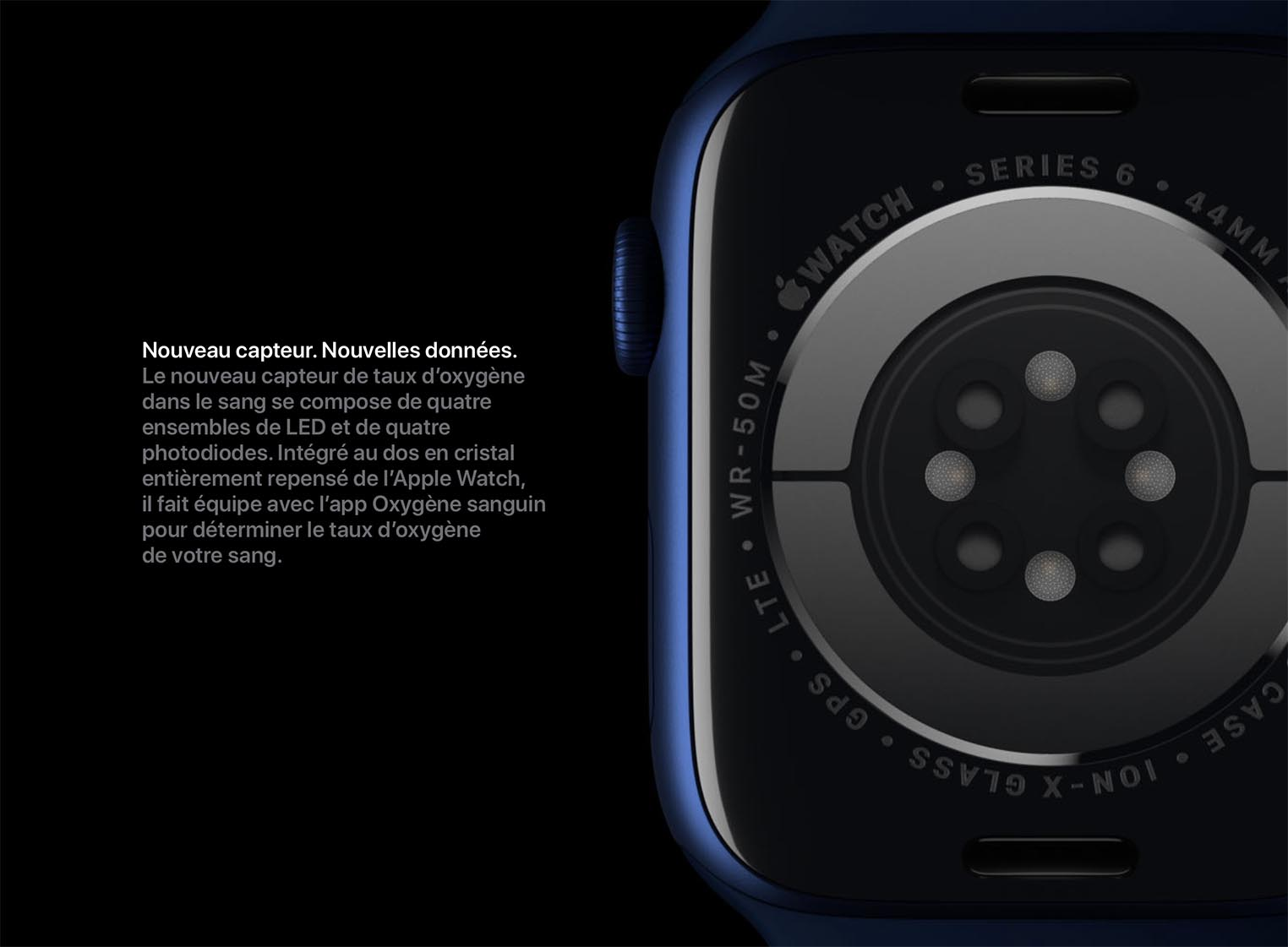 Apple Watch Series 6 taux oxygène sang