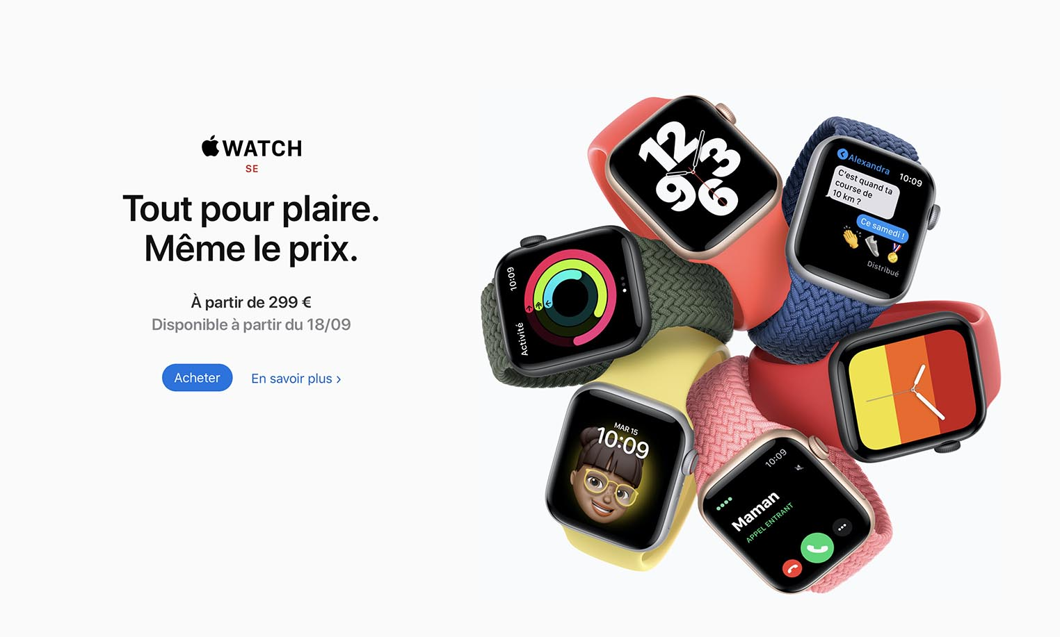 Apple Watch SE présentation