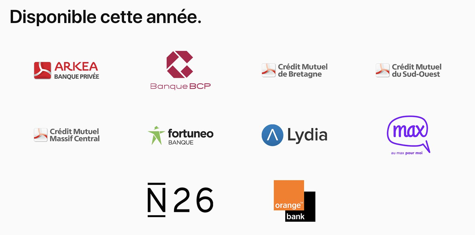 Apple Pay nouvelles banques 2017