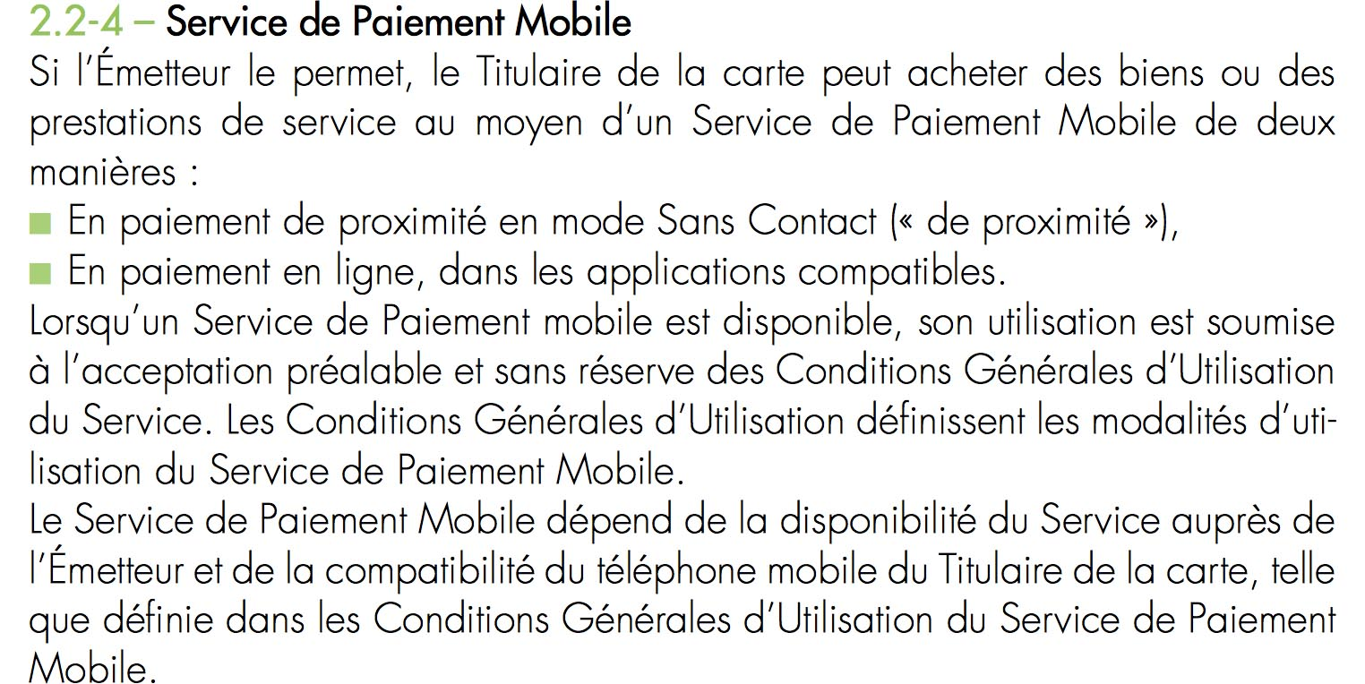 Conditions Apple Pay Fortuneo