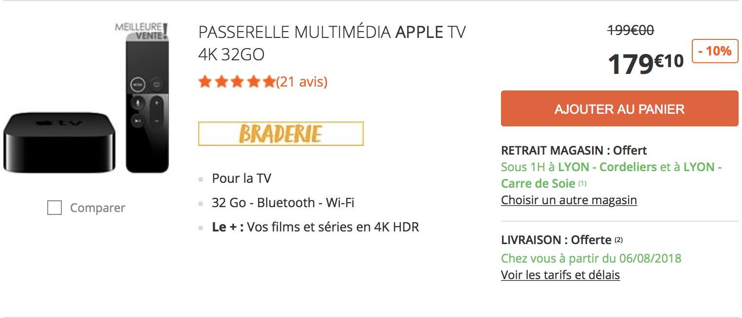 Apple TV promo Boulanger