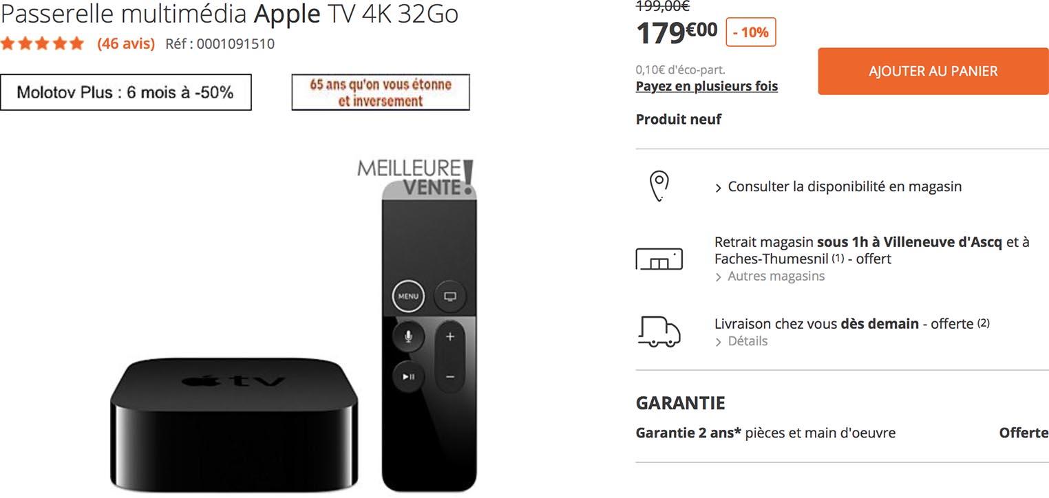 Apple TV 4K Boulanger