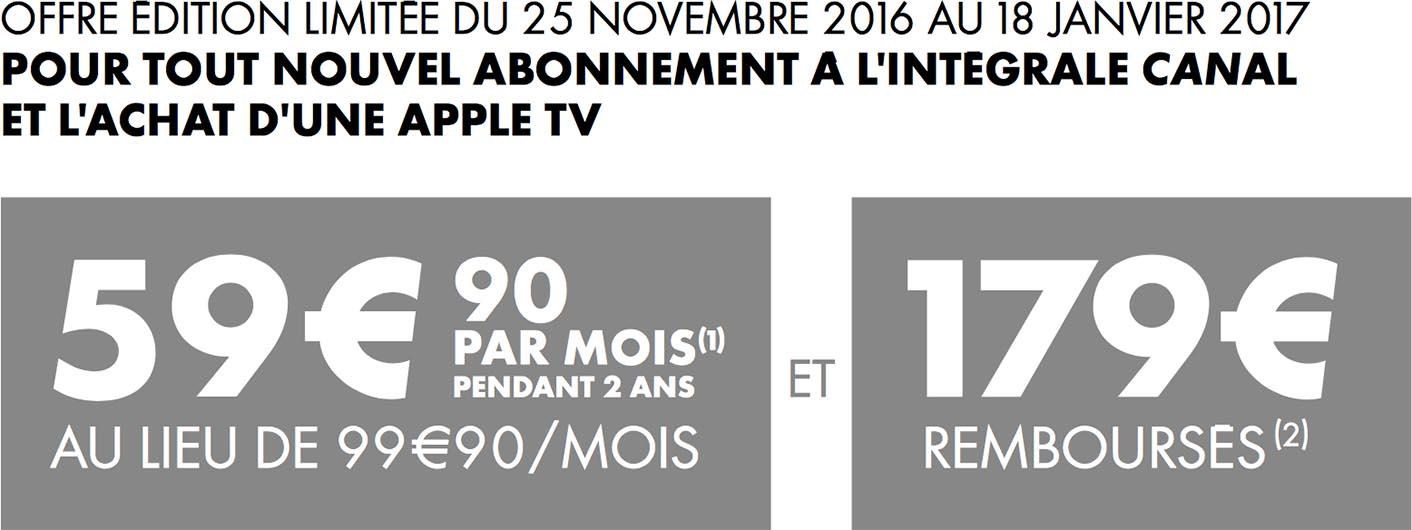 Apple TV remboursement Canal+