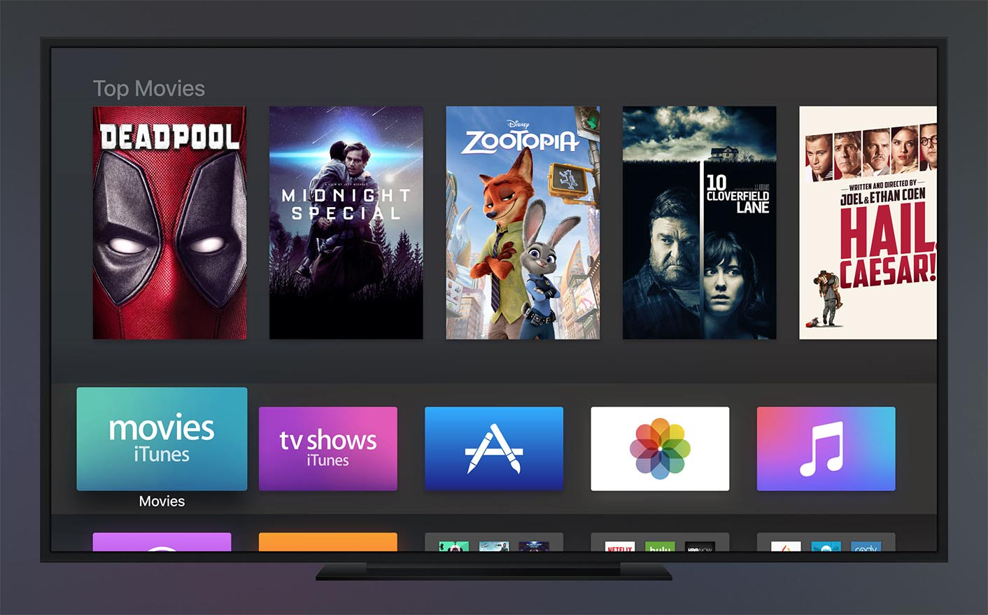 Apple TV mode sombre