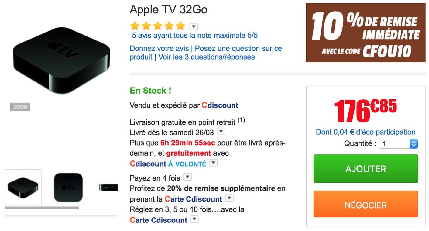 Apple TV 32 Go CDiscount