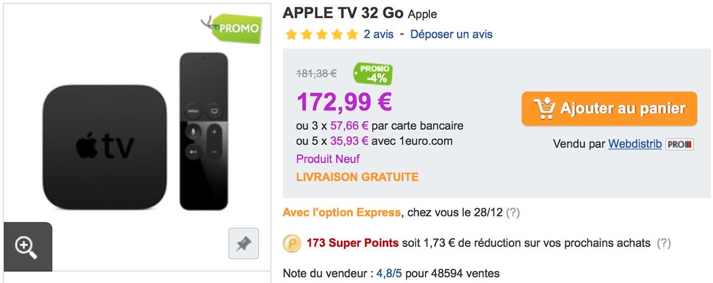 Apple TV 32 Go PriceMinister
