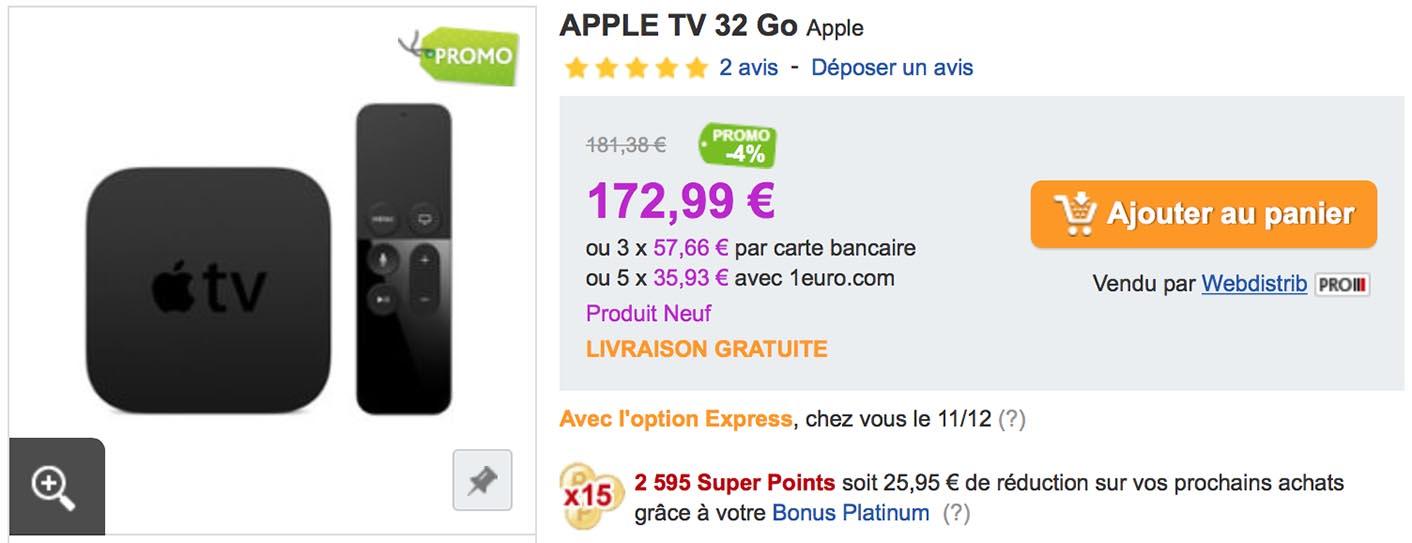 Apple TV 4 PriceMinister