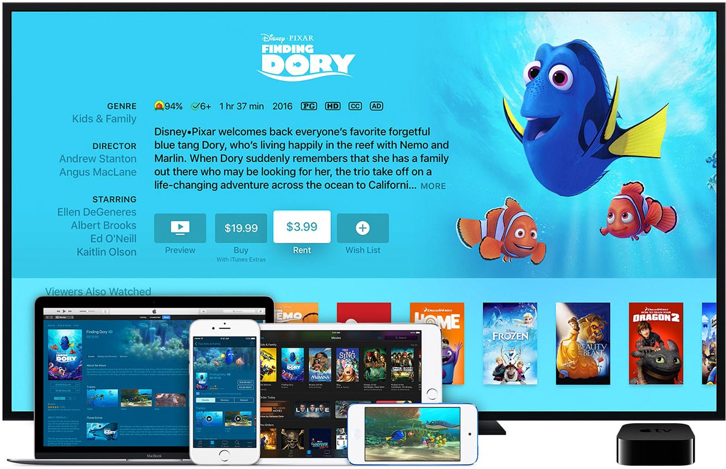 Apple TV Finding Dory