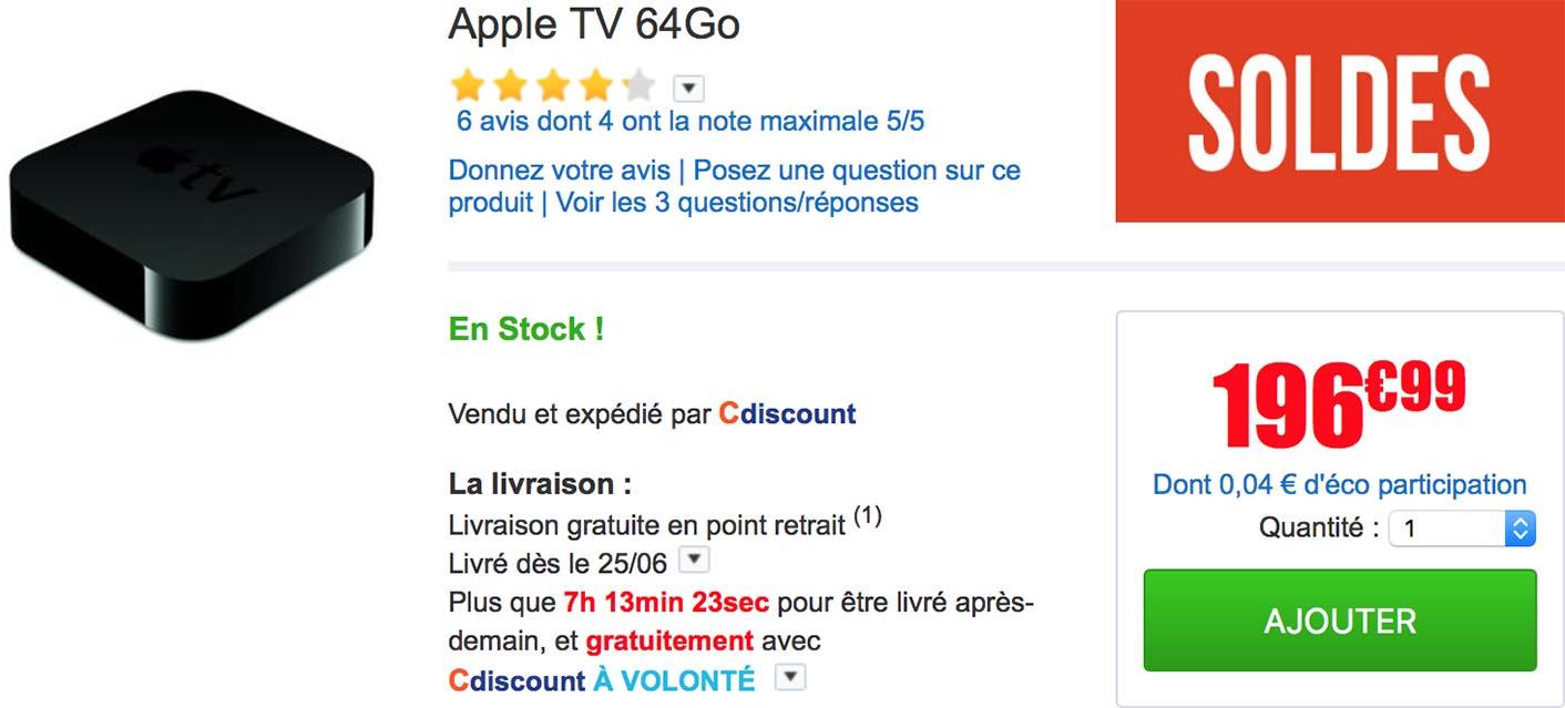 Apple TV 64 Go CDiscount