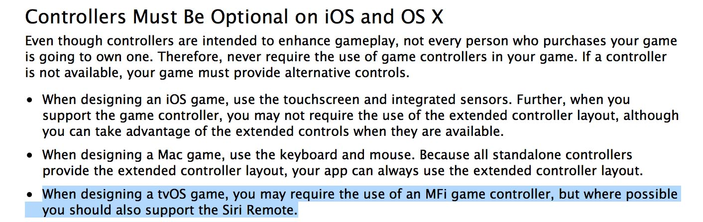 Apple TV controleurs optionnels