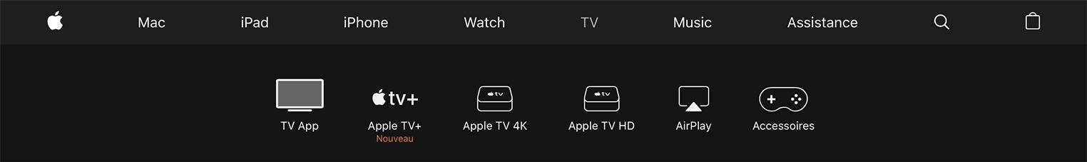 Apple TV HD nom Apple Store
