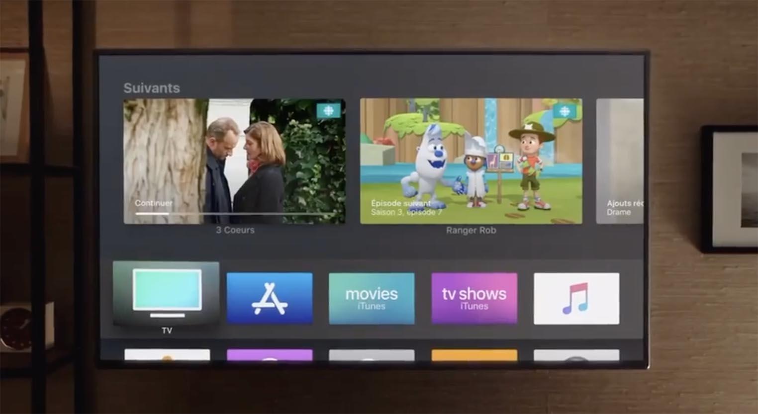 consomac apple tv l 39 app tv arrive en france. Black Bedroom Furniture Sets. Home Design Ideas