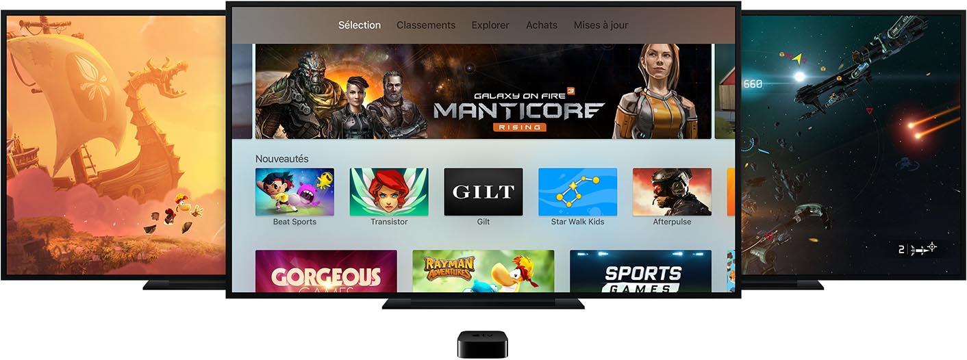 Apple TV App Store jeux
