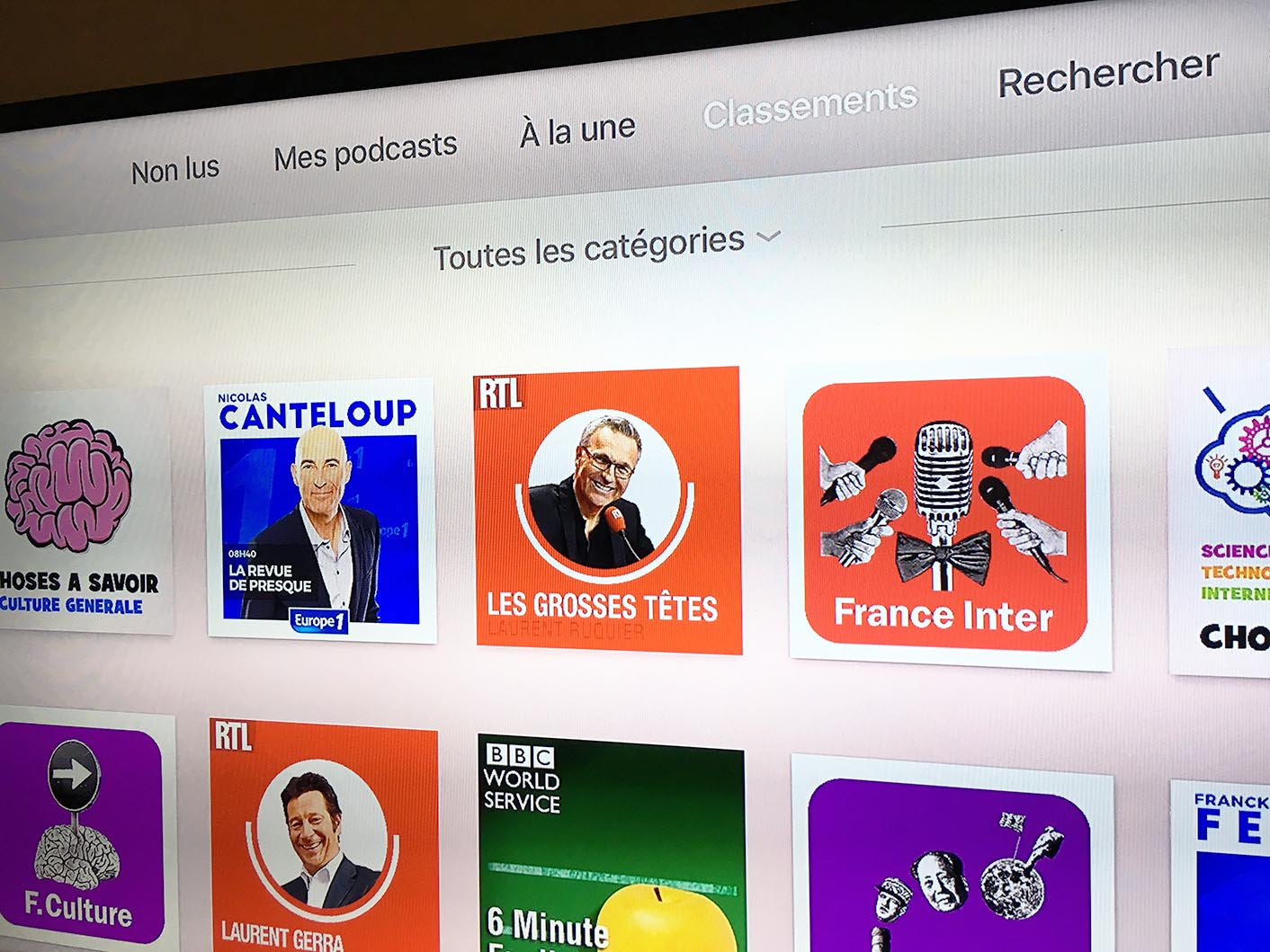 Apple TV 4 Podcasts
