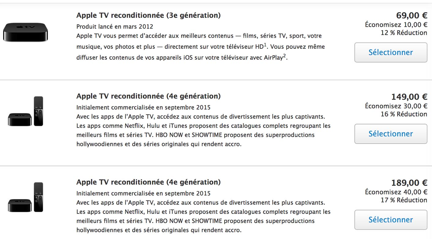 Apple TV 4 Refurb