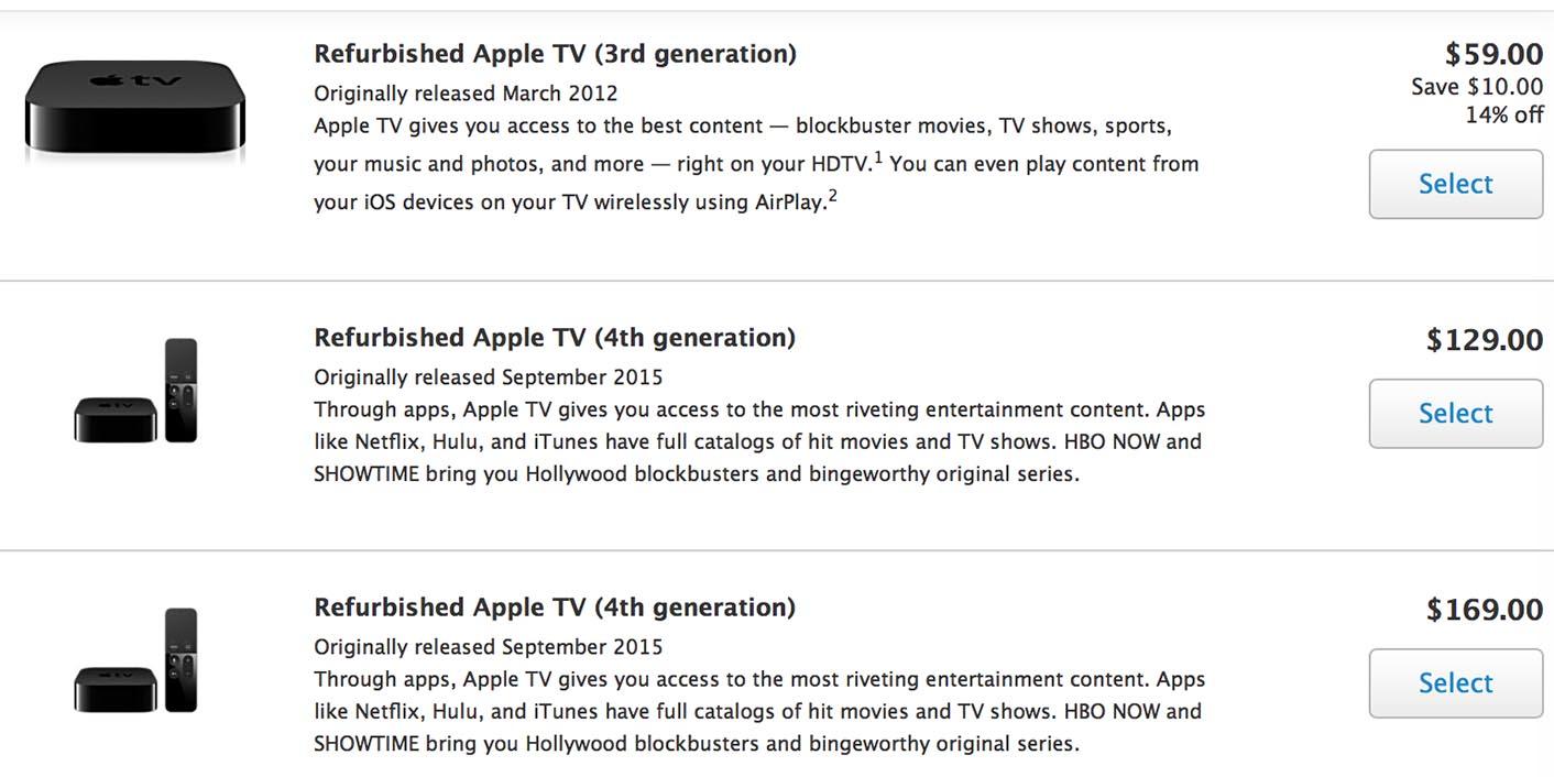 Apple TV 4 Refurb USA