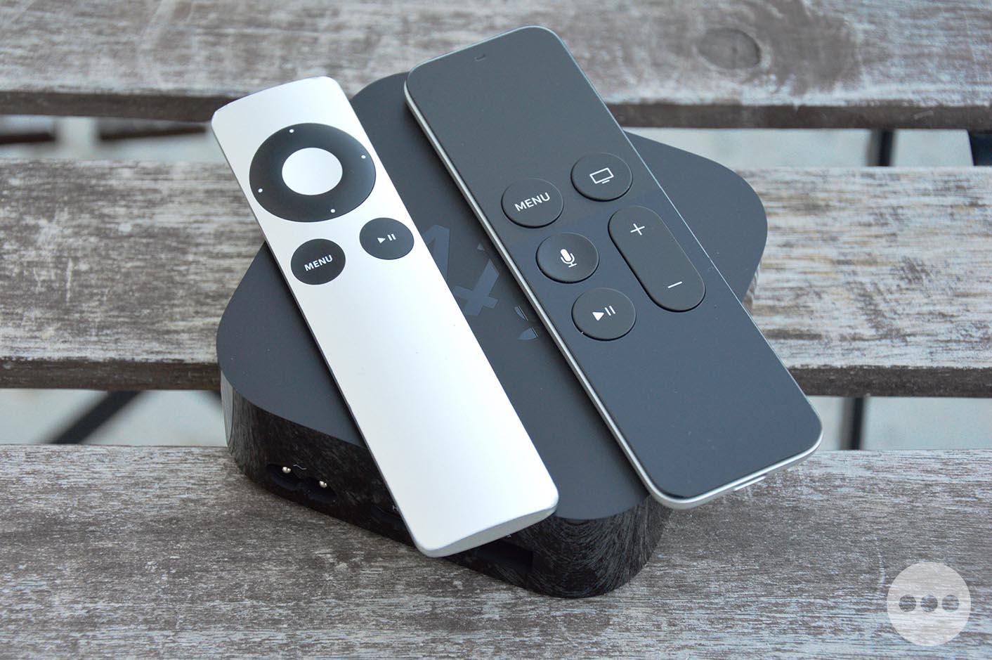 Apple TV 4 comparaison télécommandes