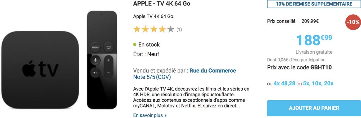 Apple TV 4K Rue du Commerce