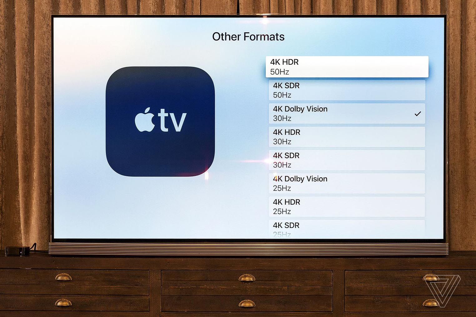 Formats Apple TV 4K