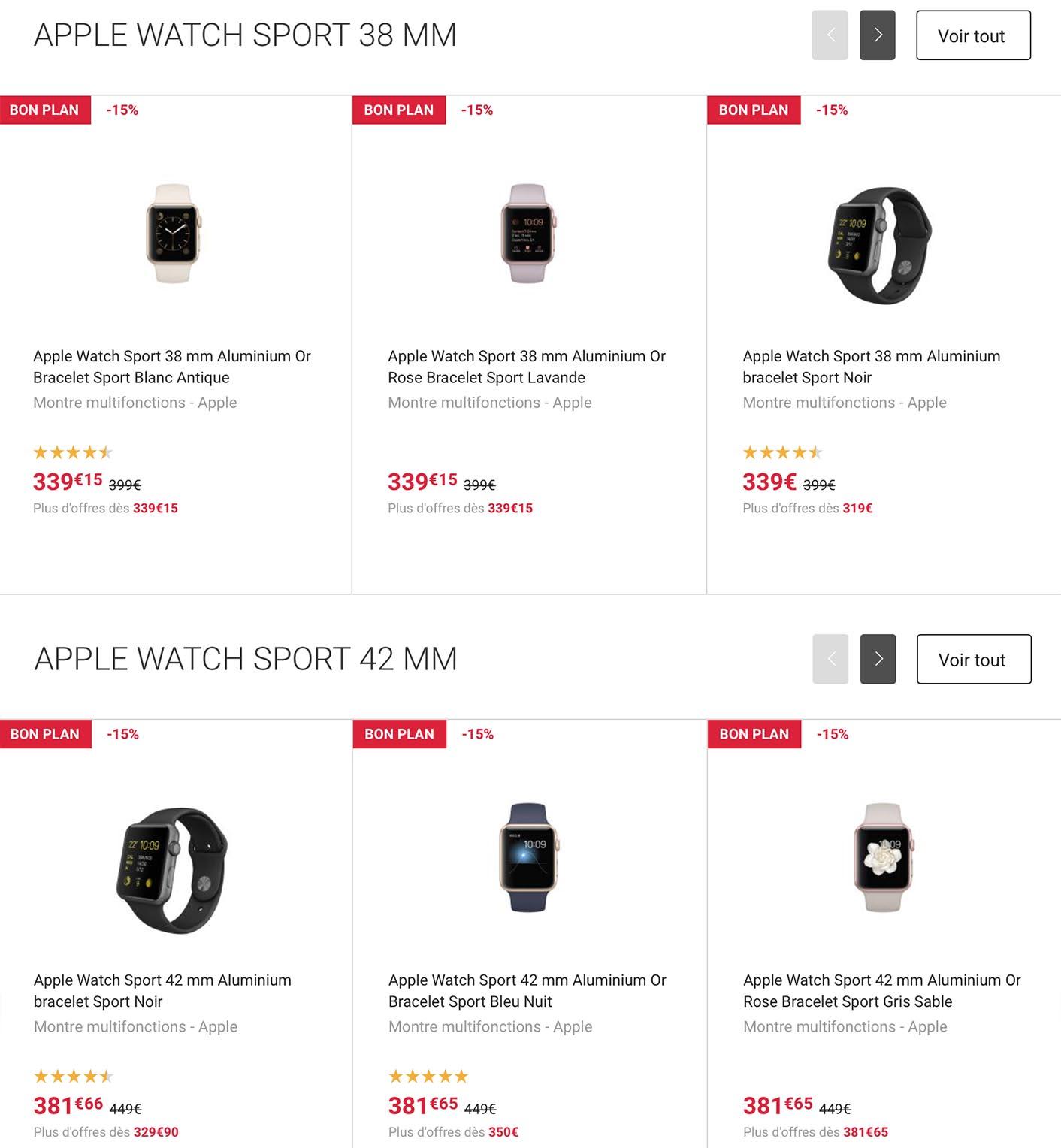Promo Apple Watch Fnac