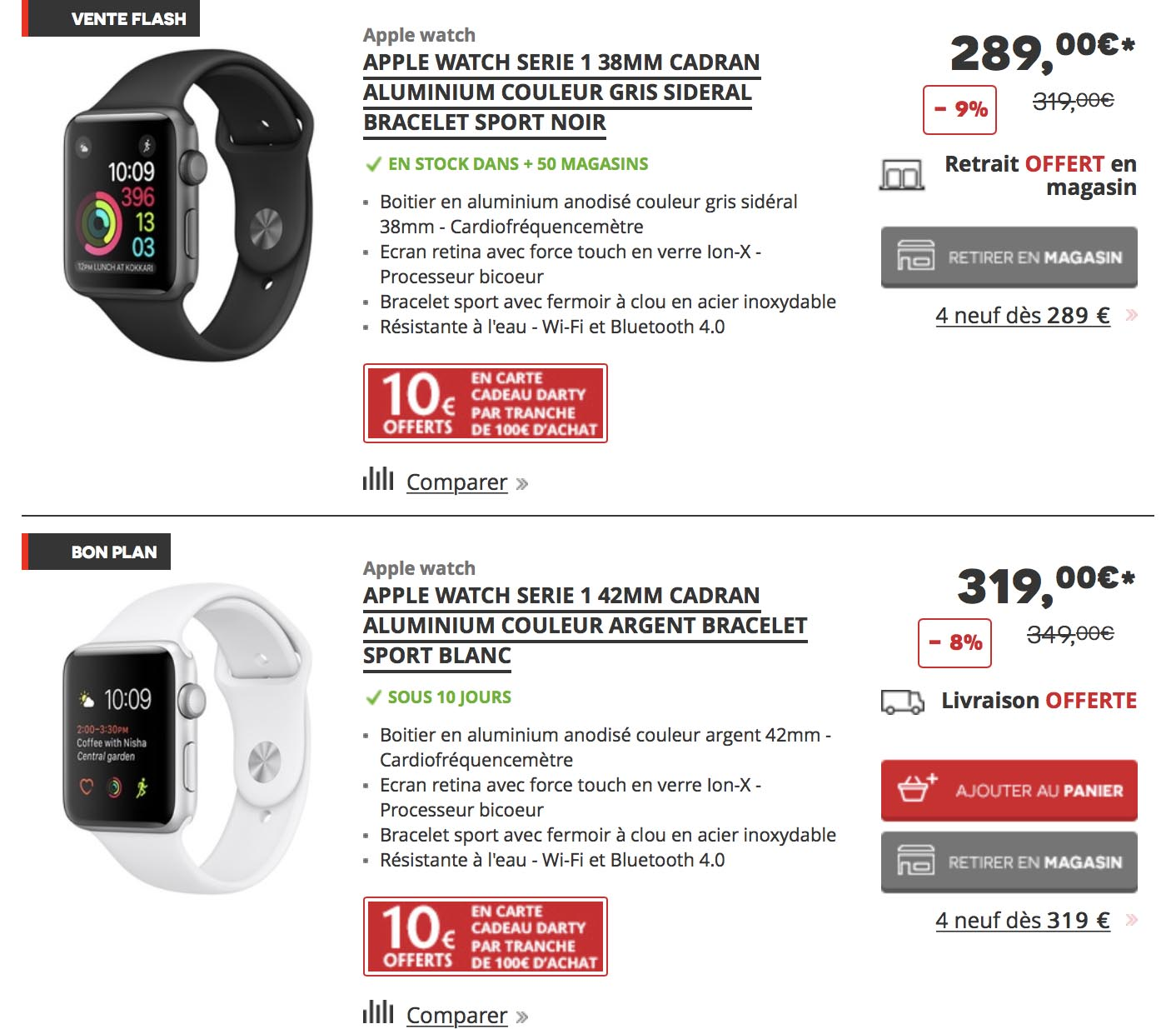 Apple Watch promo Darty