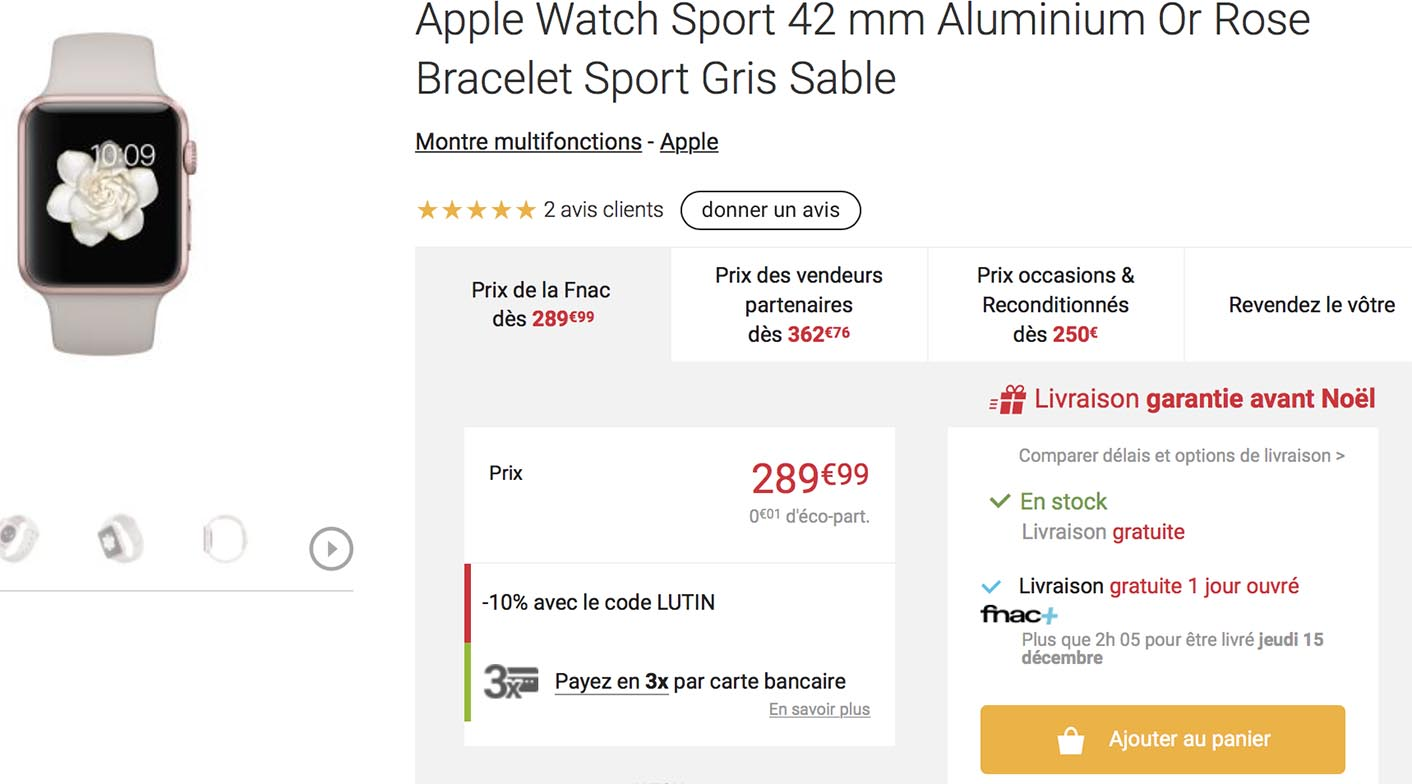 Apple Watch promo Fnac