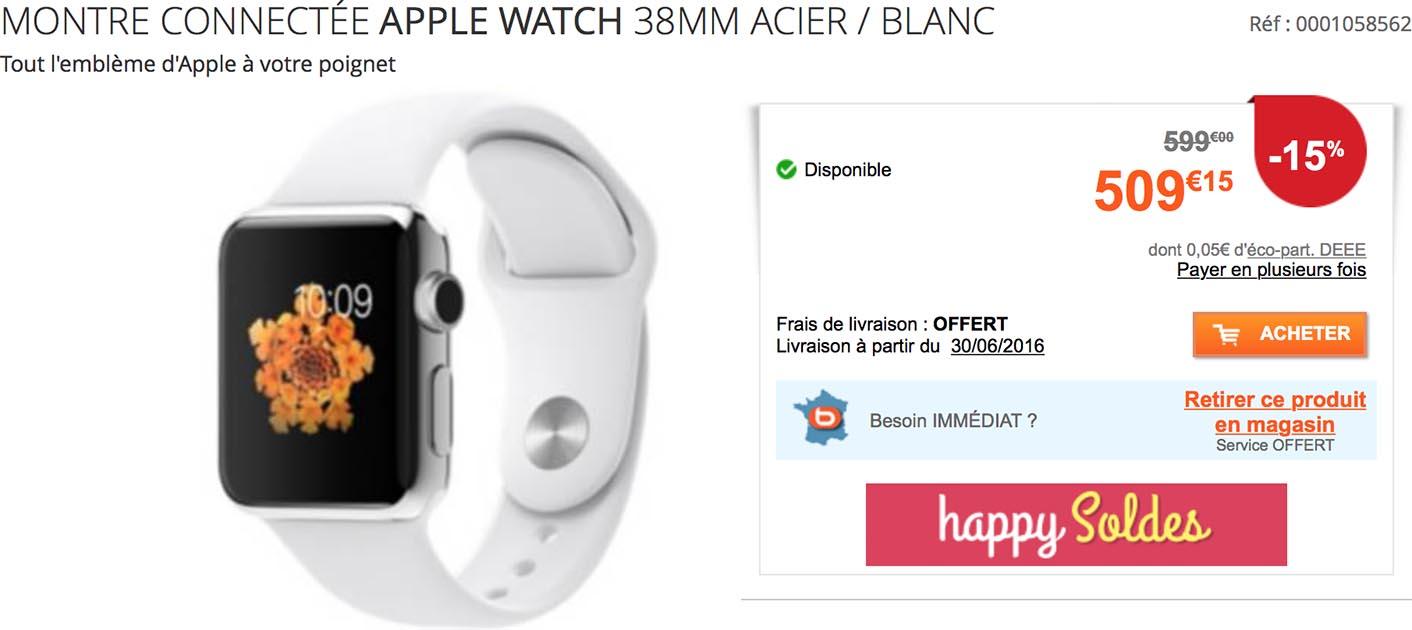 Apple Watch 38 mm Boulanger