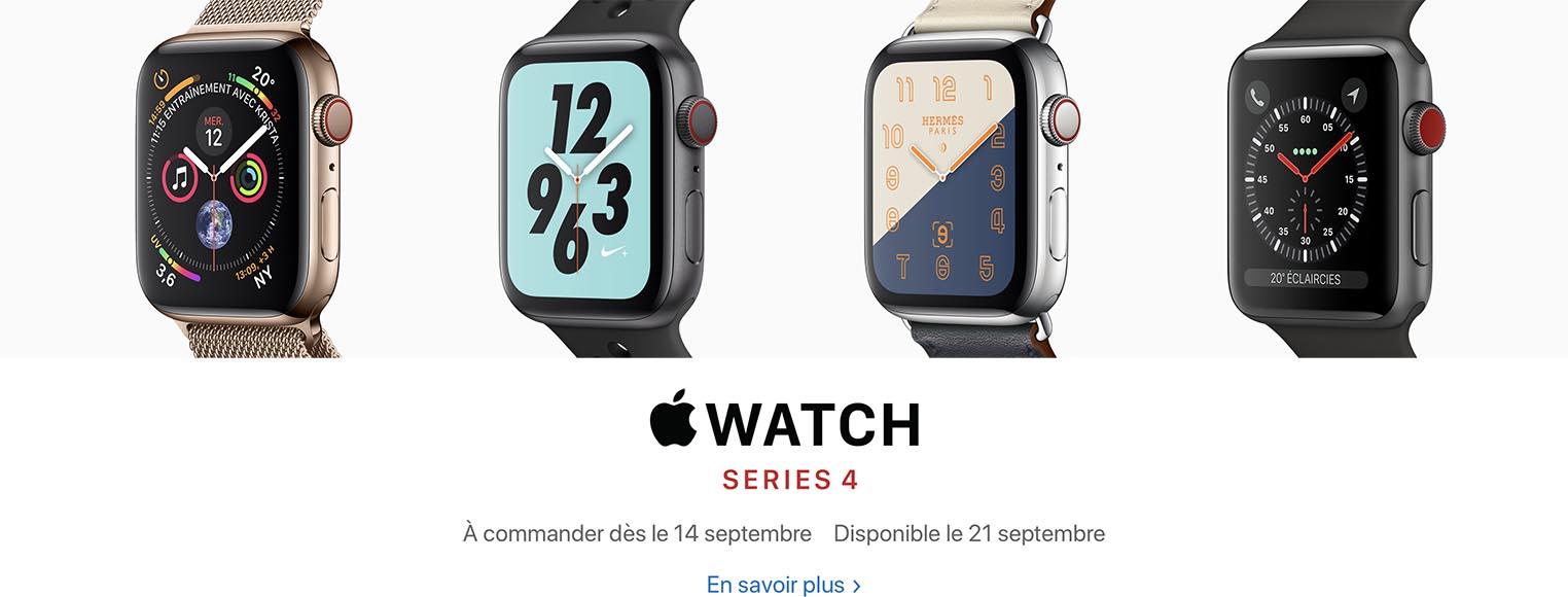 Apple Watch Series 4 précommandes