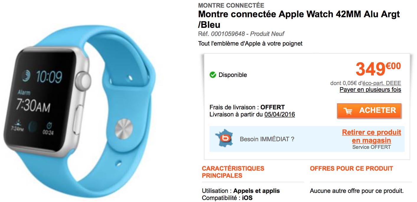 Apple Watch 42 mm bleu