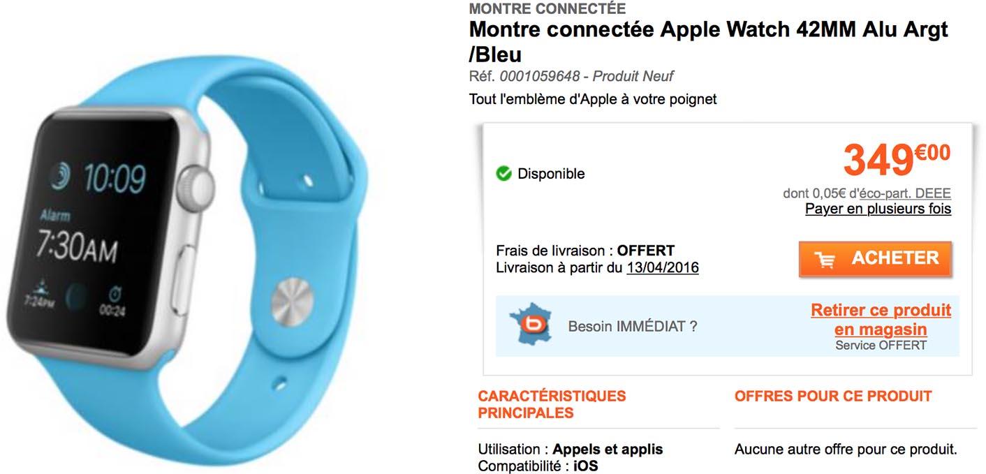Apple Watch promo Boulanger