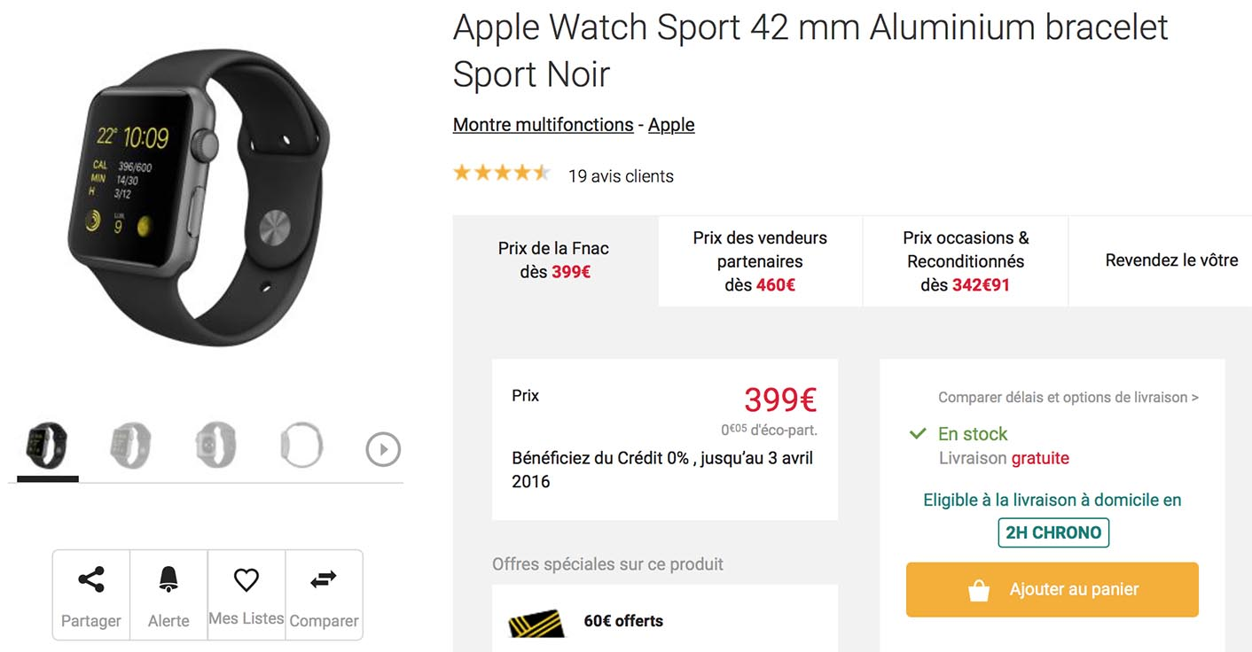 Apple Watch Fnac