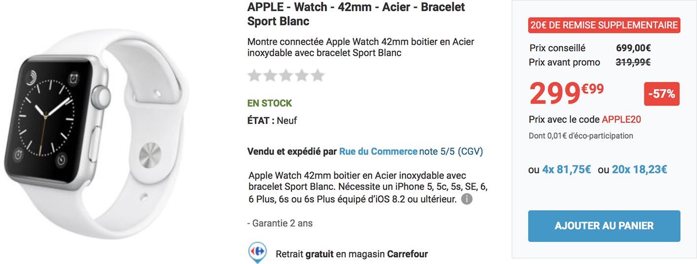 Apple Watch promo Rue du Commerce