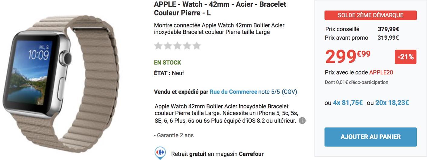 Apple Watch acier Rue du Commerce
