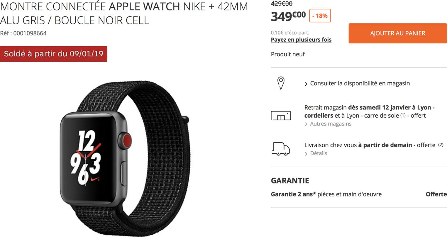 Apple Watch Nike Soldes