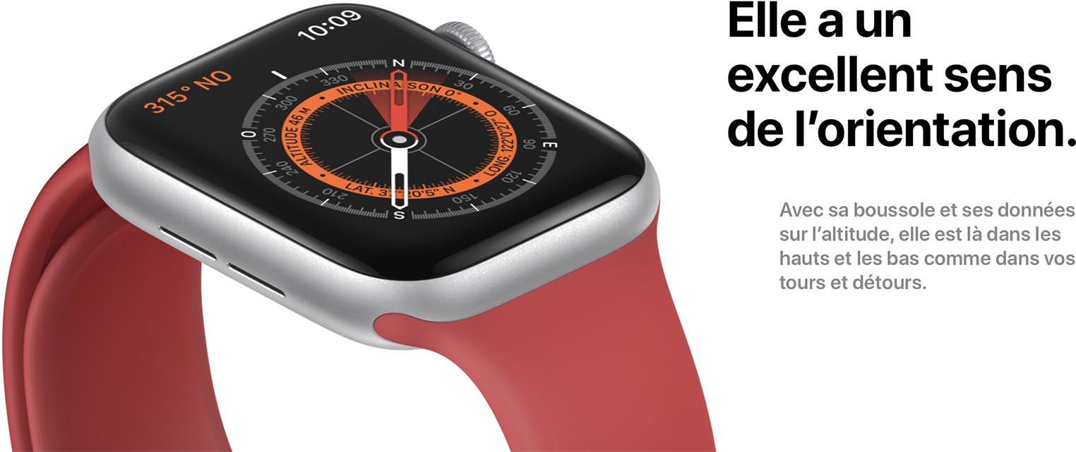 Apple Watch Series 5 boussole