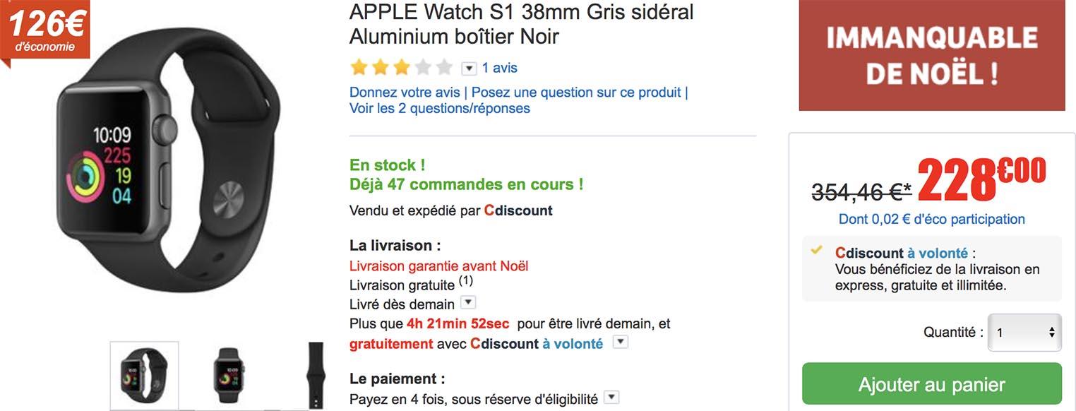 Apple Watch Series 1 CDiscount