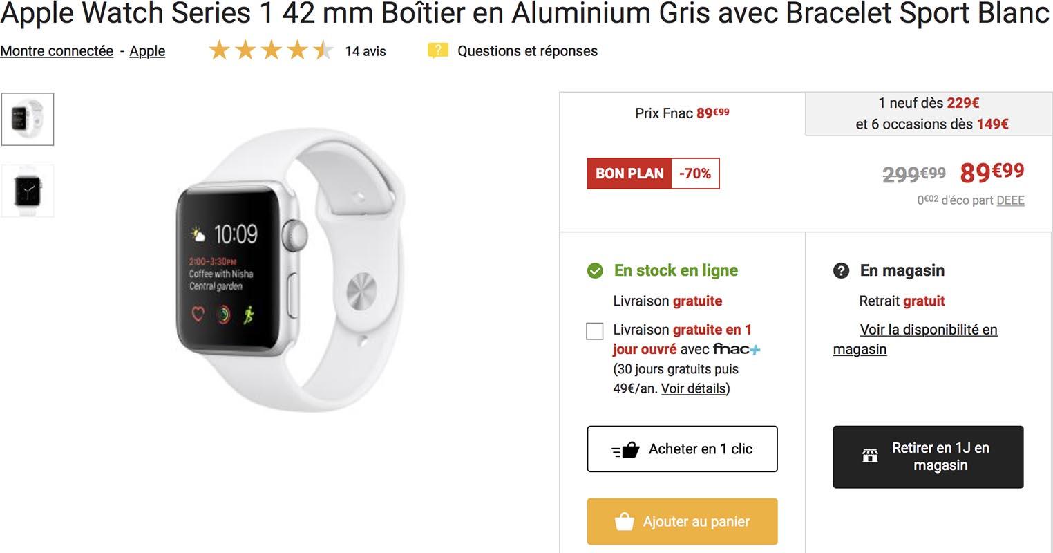Apple Watch Series 1 Fnac