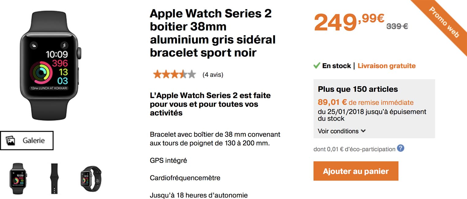 Apple Watch Series 2 promo Orange