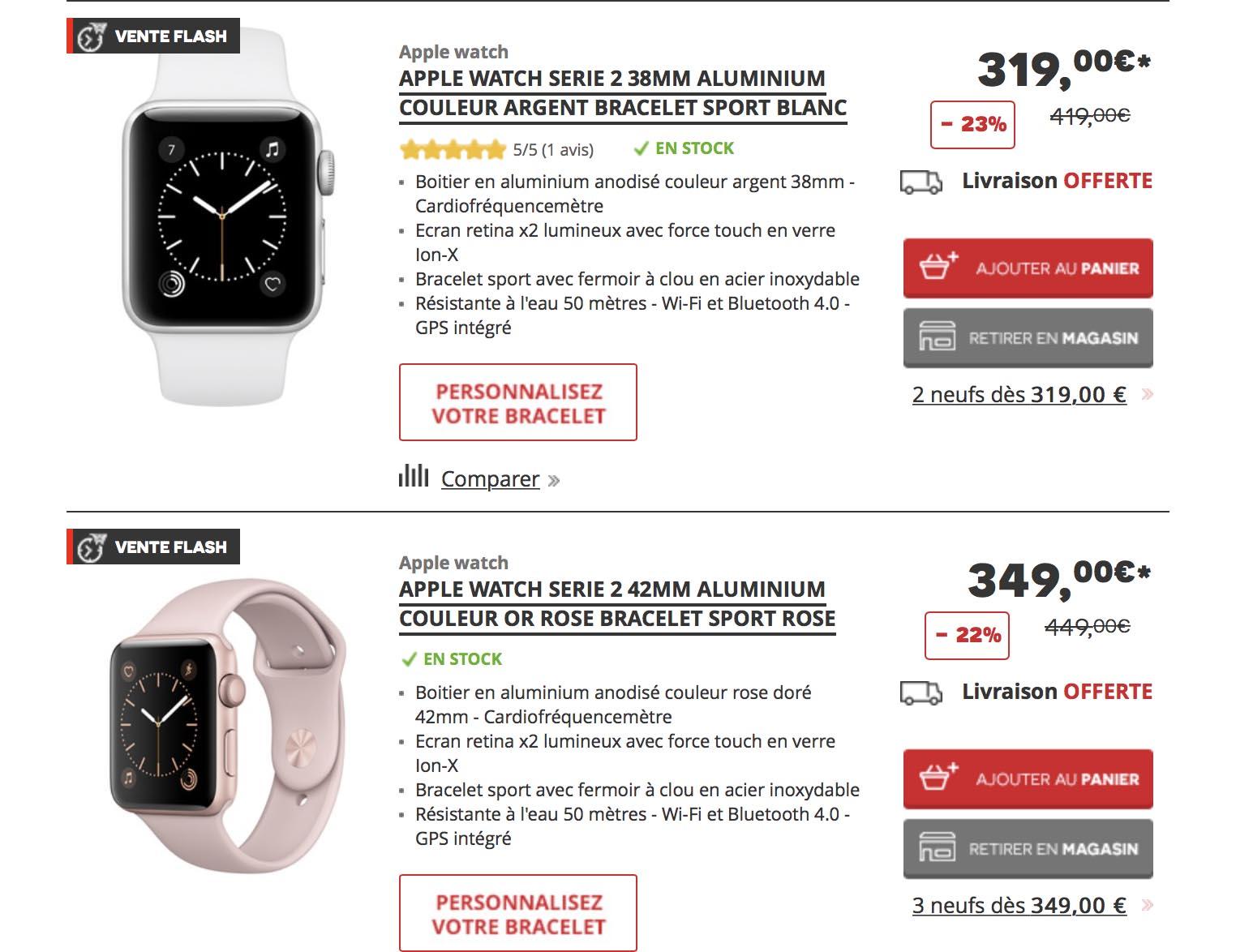 Apple Watch 2 Darty
