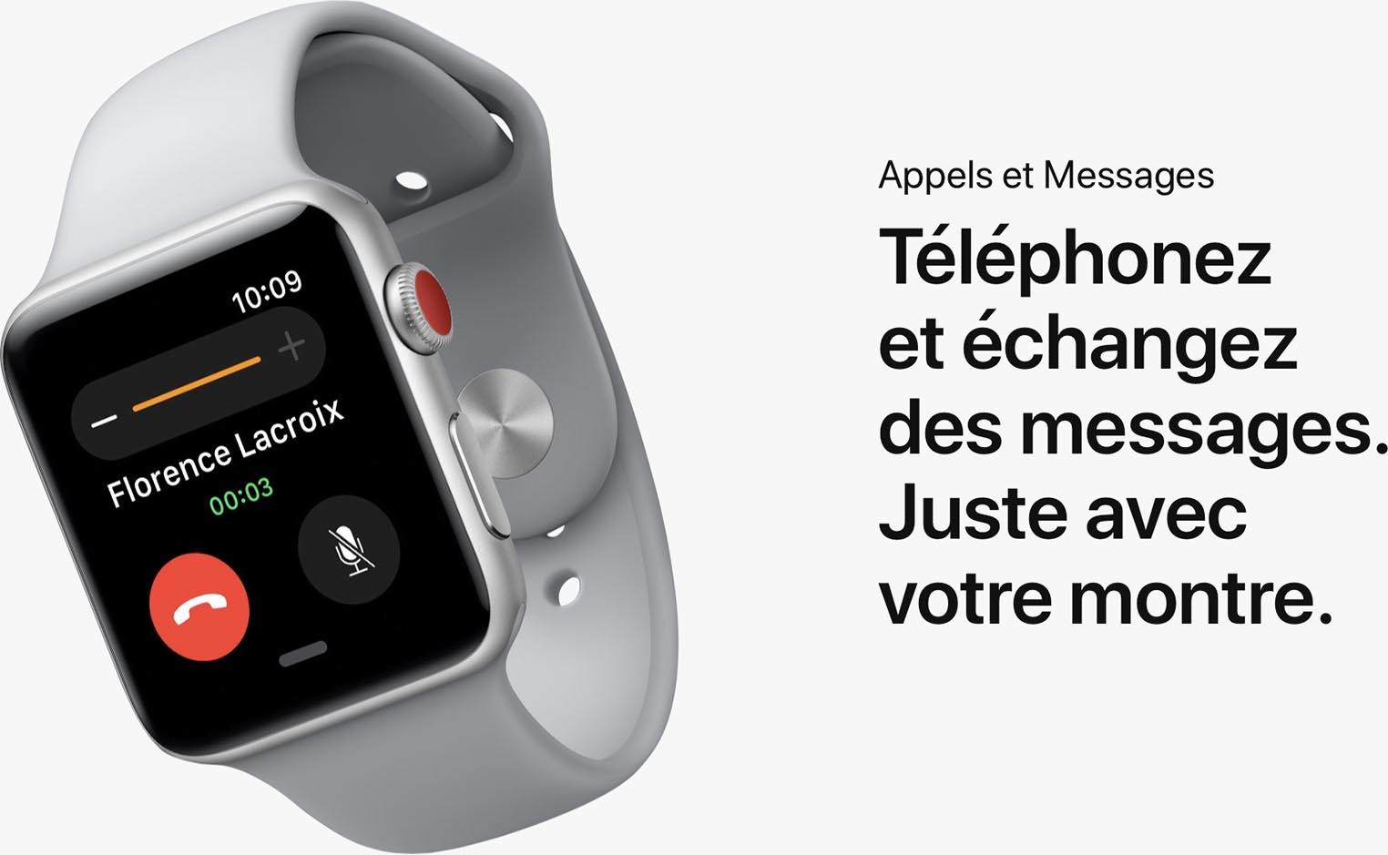 Apple Watch Series 3 appels