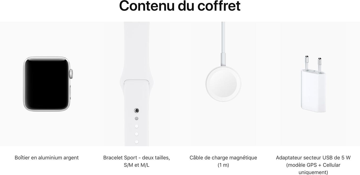 Apple Watch 3 adaptateur secteur