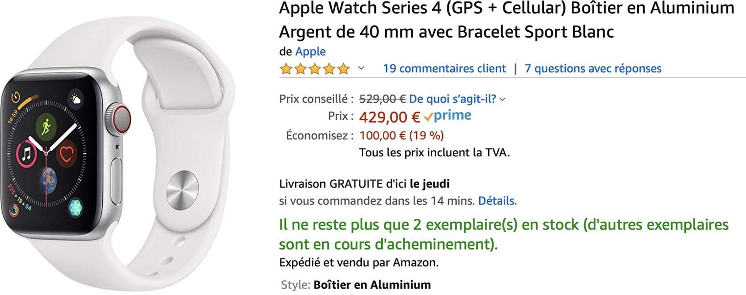 Apple Watch Series 4 promo Amazon