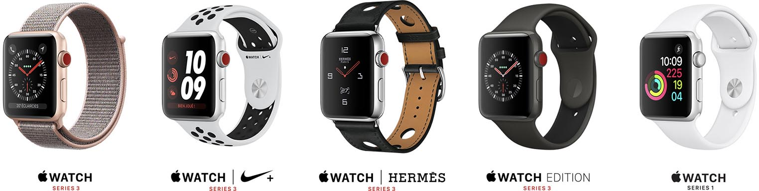 Apple Watch 4 gamme