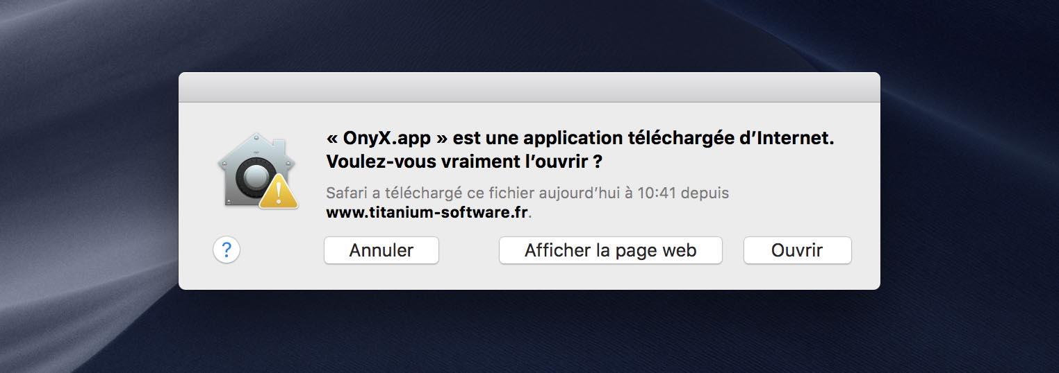 macOS applications notariées