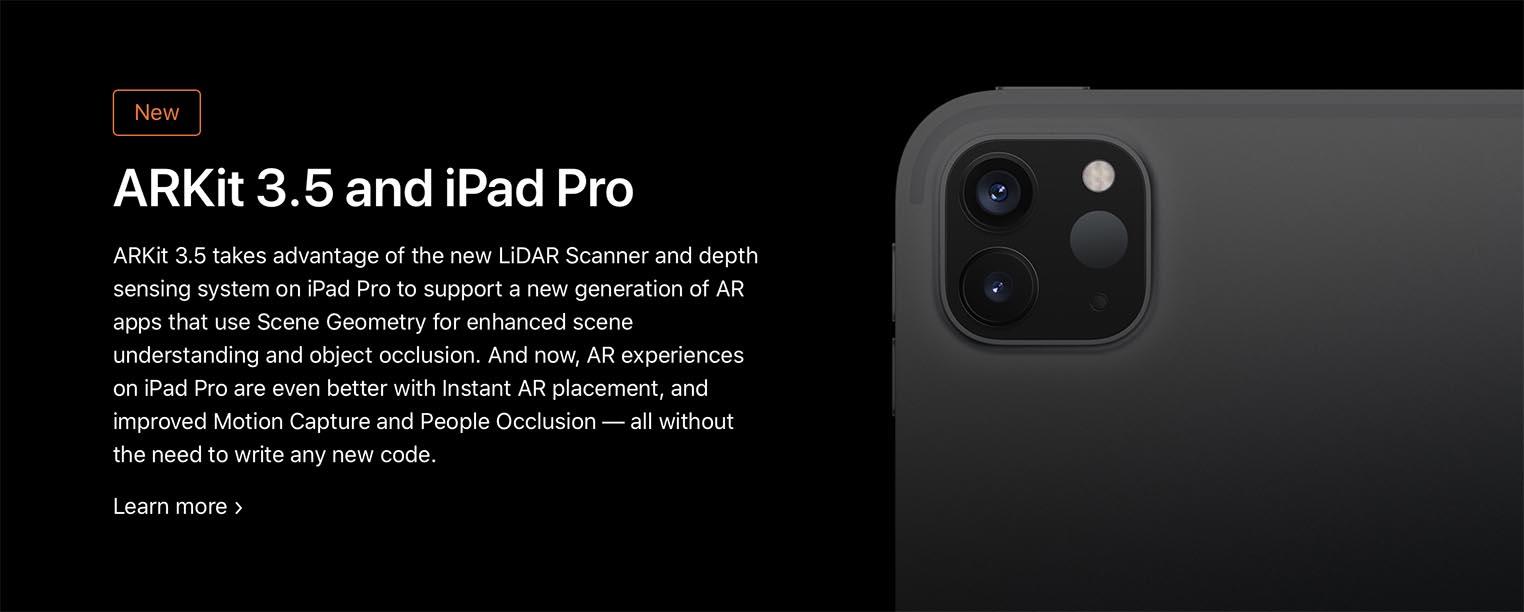ARKit 3.5 iPad Pro 2020