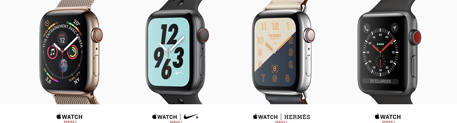 Apple Watch Series 4 gamme