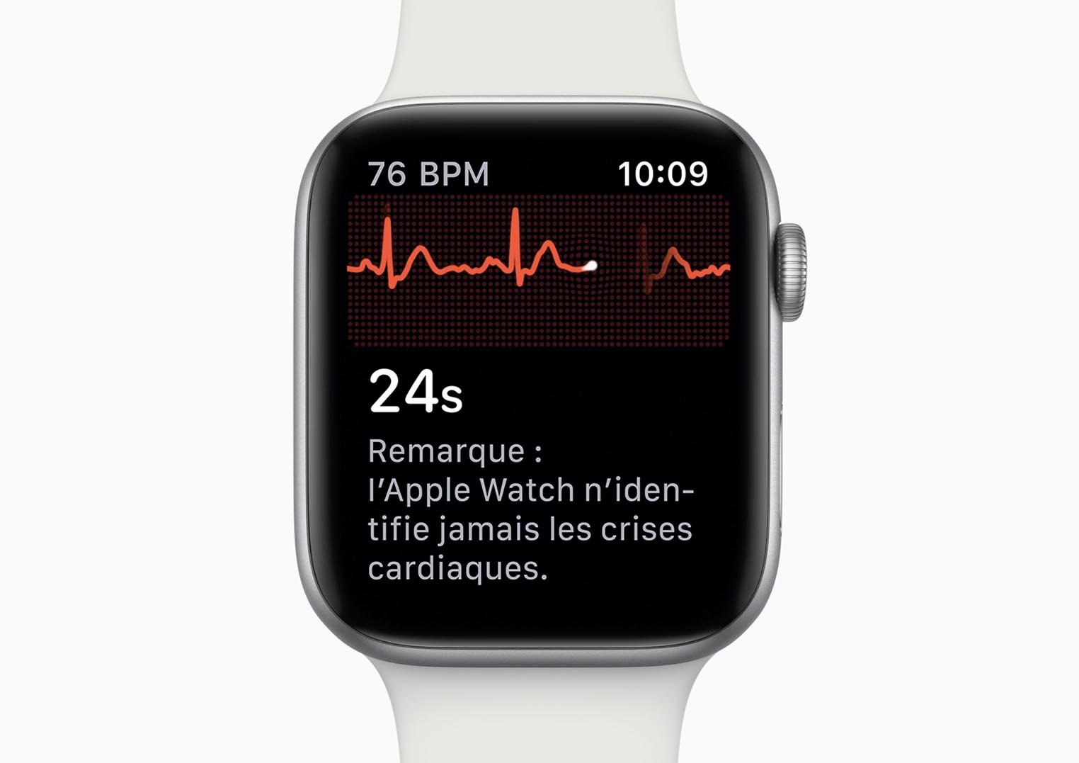 Apple Watch Series 4 ECG français