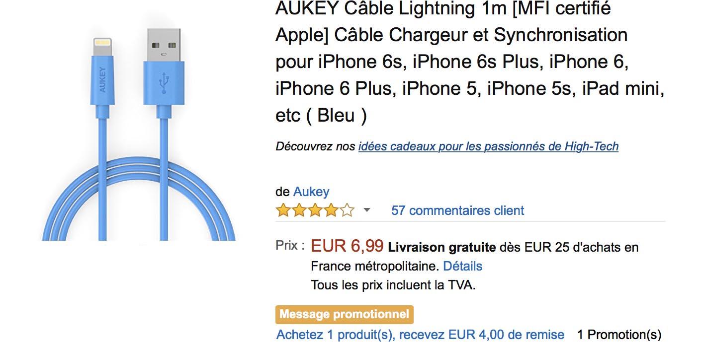 Aukey Lightning promo Amazon