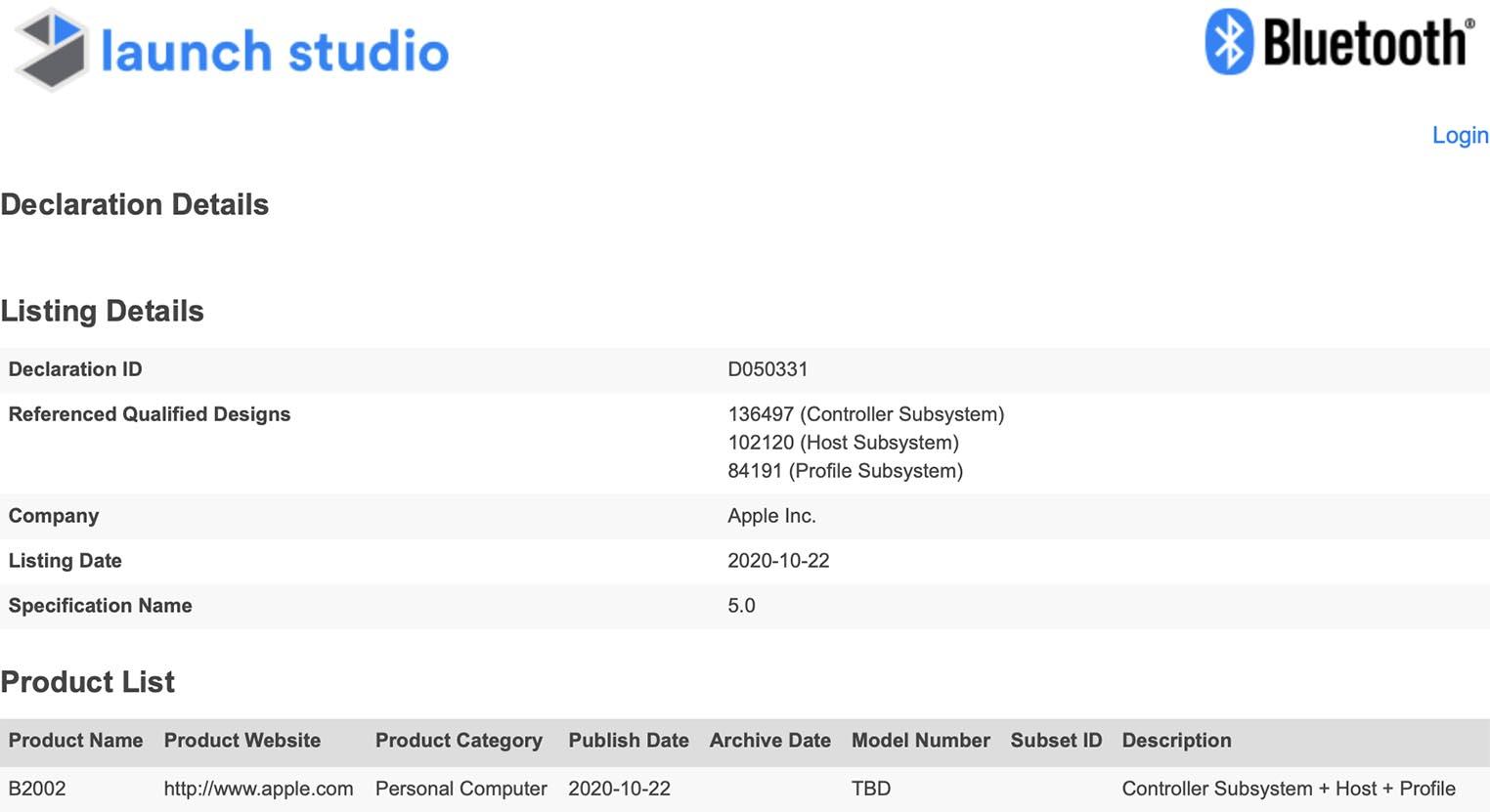 Enregistrement Mac B2002